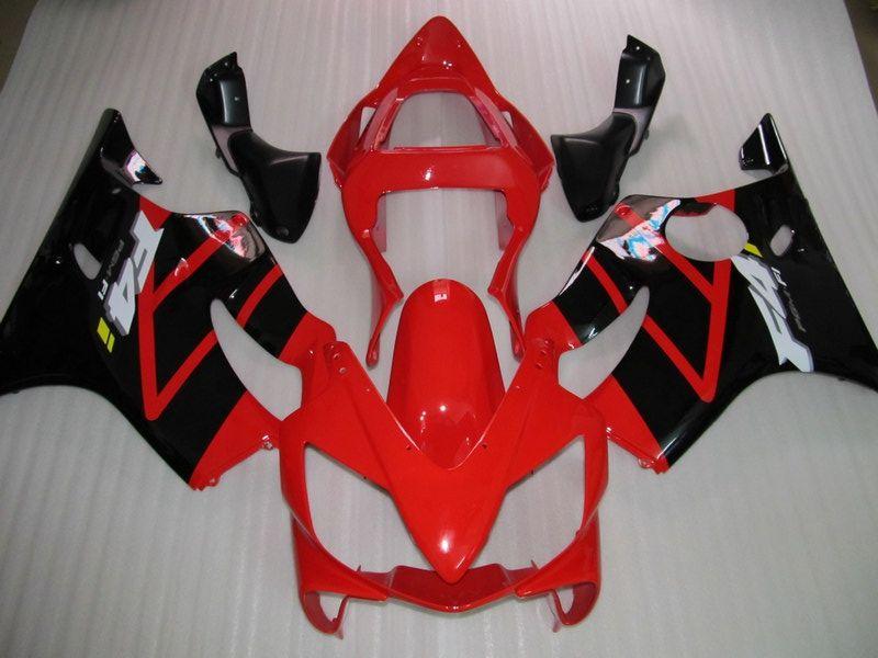 Korpiarki Czerwony Czarny Zestaw Flooring dla Honda 2001 2002 2003 F4I CBR600F4I CBR 600F4I 01 03 03 CBR600 Motocykl Ustaw