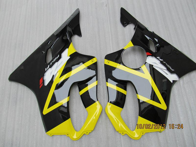H6123 Kit complet de carénage jaune POUR HONDA CBR600F4i 01 02 03 CBR600 F4i CBR 600 F4i 2001 2002 2003