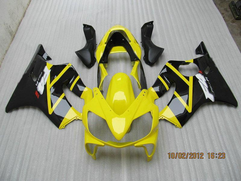 H6123 Full Set Yellow Fairing Kit för Honda CBR600F4I 01 02 03 CBR600 F4I CBR 600 F4I 2001 2002 2003