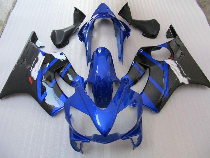 Blue / Black Fairing kit for 혼다 CBR600 CBR600F4i 04 05 06 07 CBR 600 F4I 04-07 2004 2005 2006 2007 2007