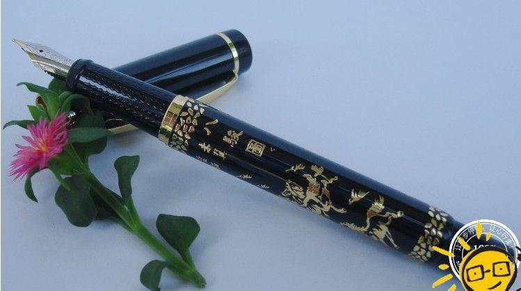 Héroe Xu Beihong pluma fuente ocho caballos mayor figura pluma de caligrafía senior 0.5mm NIB partido de negocios favor estudiante premio regalo