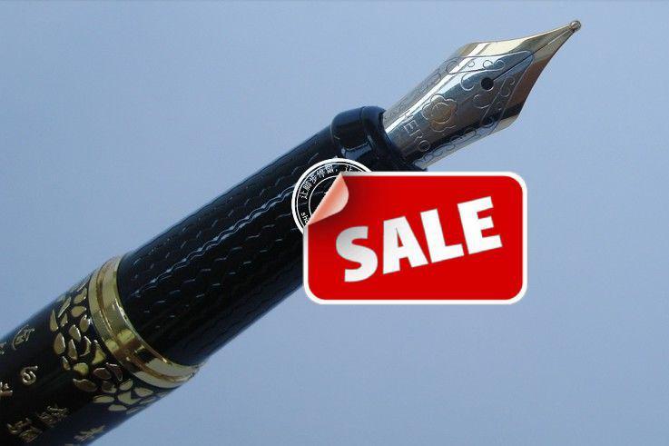 ヒーローXUベアンゴンの噴水ペン8頭の上級フィギュアシニア書道ペン0.5mm Nibビジネスパーティー党員支持学生賞品ギフト