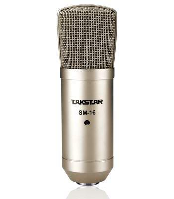 Takstar SM-16 Recording Studios Mikrofon Radio Broadcasting Free Shipping med Retail Packaging