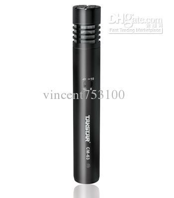 3 pçs / lote TAKSTAR CM-63 Microfone de diafragma pequeno Microfone Condensador de Gravação Profissional / Mic
