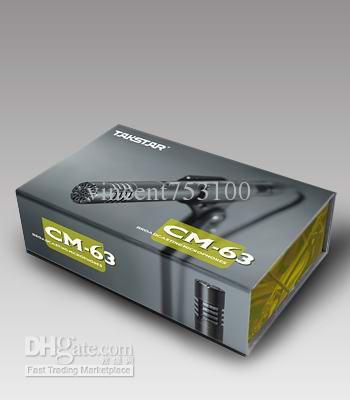 3 unids / lote TAKSTAR CM-63 Micrófono de diafragma pequeño Micrófono de grabación de condensador profesional / micrófono