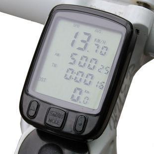 새로운 자전거 24 기능 LCD 컴퓨터 거리계 속도계 순환 자전거