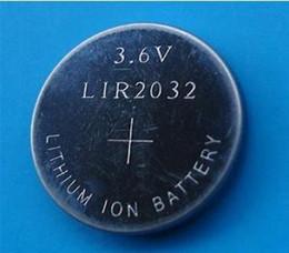 Wholesale 1000pcs Lot, 3.6v LIR2032 rechargeable button battery, li-ion coin cell batteries