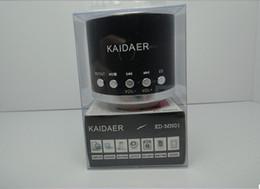 Wholesale Mini Speaker Fast Shipping - 20pcs Kaidaer KD-MN01 portable speakers,Music Angel Mini speakers Micro SD Dard Speaker Fast Ship