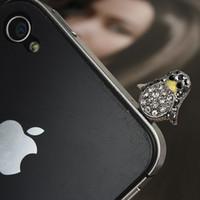 Wholesale Cute Mobile Phone Plug - Cute Penuins Ear Cap Earphone Jack Anti-dust Plug for 3G mp3 mobile phone