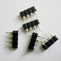 Wholesale Dc Connectors For Led Lighting - 100PCS 4Pin Female LED Strip Connectors For RGB LED Strip Light