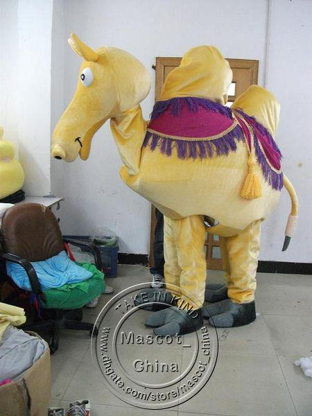 See larger image & Plush Lovely Yellow Two Person Camel Animal Mascot Costumes ...