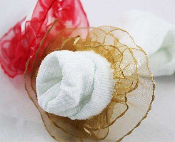Nueva llegada, envío de la gotaEl verano Leecr Child Mesh Socking Lace Princess Blanco Calcetines de algodón. 40/60/80 PCS / .