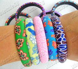 Wholesale Polymer Clay Bracelets - Lot Jewelry 28pcs decalcomania FIMO polymer clay bracelet