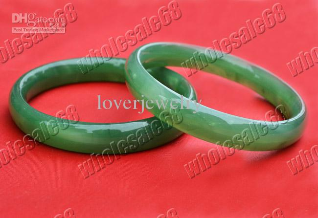Fashion Lot Jewelry 10pcs jade green gemstone stone Vintage bracelets bangle wedding gift jewelry Bangles charm