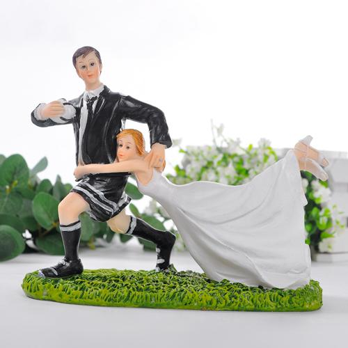 rugby couple wedding cake topper match football rugby wedding cake topper from 19463
