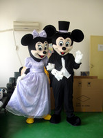 Wholesale Carnival Costumes Couples - Brand New Mouse Couple minnie and mickey Mouse wedding ceremony Mascot costume Adult Size children kid gift toy