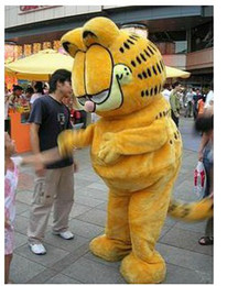 Wholesale Adult Mascot Cat - Brand New cartoon Garfield cat Mascot costume Adult Size Mouse children kid toy gift free fast ship