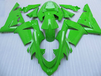 Pure green motorcycle fairing kit FOR Kawasaki ninja ZX- 10R ...