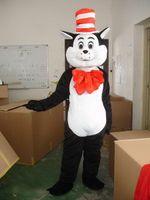 Wholesale Cat Mascot Costume Fancy Dress - Seuss The Cat in The Hat Mascot Costumes Fancy Dress Halloween Party Adult Size Free Shipping