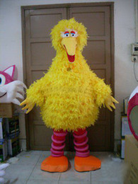 Wholesale Latex Cartoon Movies - Super High Quality Premium Long Fur Big Bird Mascot Costume kigurumi Cartoon Costumes Free Shipping