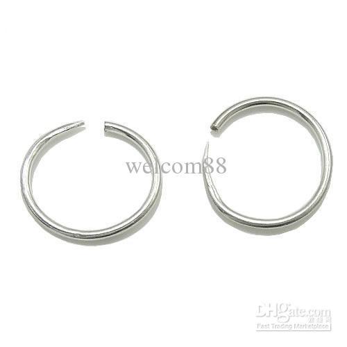 20 unids / lote 925 Pendientes de aro de plata esterlina para el regalo de joyería de artesanía de bricolaje 1x13mm WP165