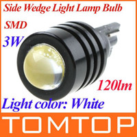 Wholesale 161 Led Car - 3W High Power T10 W5W 194 927 161 White SMD LED Car Side Wedge Light Reading Lamp tail lights K517