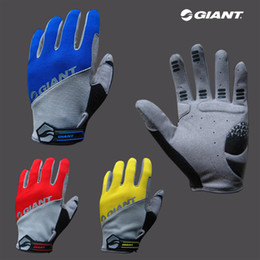 Wholesale Giant Cycle Gloves - New Cycling Bike Bicycle FULL Finger Beautiful Gloves GIANT Size M - XL