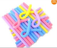 Wholesale bendy curler rods resale online - Foam Hair Dressing styling Bendy Curly Rollers Form Bendy Curlers flexi Rod