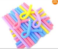 rolinhos flexíveis venda por atacado-Penteado de espuma de vestir styling Bendy Curly Rollers Forma Bendy Curlers Rod flexi