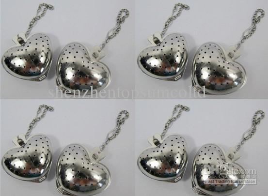 Tee Ball Herz Sharped Tee Infuser Edelstahl Teesieb 50 teile / los kostenloser versand