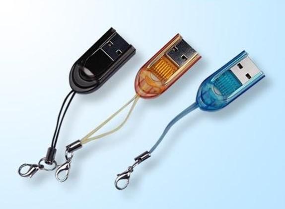 الحرة الشحن الإبهام عالية السرعة قارئ بطاقة الذاكرة ل TF SD مايكرو فلاش
