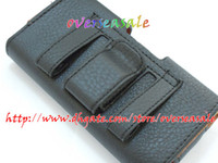 Wholesale Cover Case Sii - Lichee Soft leather skin case cover pouch holster belt clips for Samsung Galaxy i9100 S2 SII 200pcs