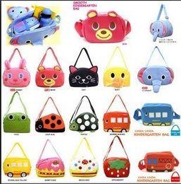 Backpack Zoo Canada - 10pcs lot Children linda backpacks Kid's animal Schoolbags baby's Messenger Bag Zoo picnic bags