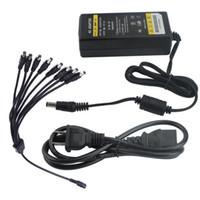Wholesale Supply Adapter Splitter - 12V 5000mA 5A Power Supply Adapter + 8 way Splitter Cable CCTV Surveillance Camera