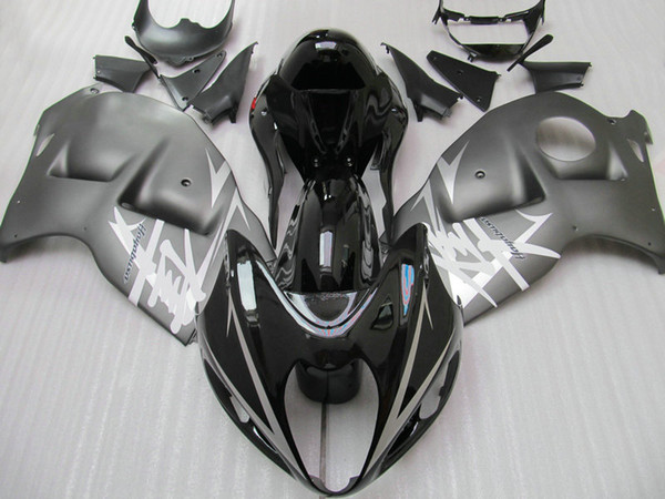 Free Custom fairing kit for GSX1300R hayabusa 1996-2007 GSX 1300R 96 - 07 mattle&gloss black body repair fairings kit