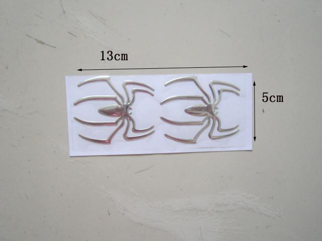 50PR / partij Nieuwe 3D Gepersonaliseerde Spider Stickers voor Auto / Truck / Motorfiets Cool Car Stickers