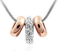 Wholesale Titanium Crystal Shape - Dont Miss Stock Price Free Shipping Circle Shape Shining Unique Crystal Necklace