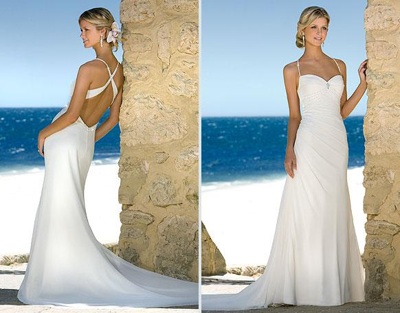 Best Ing Y Spaghetti Slim Backless Sheath Wedding Dress