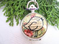 Wholesale Cute Pocket Watch Necklace - Wholesale--Cute Fat Chicken pocket watch Quartz Locket Pocket Watch necklace 5pieces lot