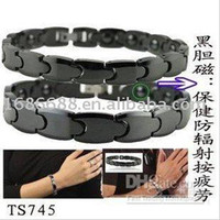 Wholesale Ceramic Magnetic Bracelets Black - Brand new Fashion Jewelry black ceramics Healing Magnetic Bracelet health care function for love 745