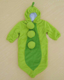 Wholesale Cheap Baby Costumes - Cheap Price Baby Sleeping Bag Grean PEA IN A POD boys girls facy dress costume EMS Free Shipping