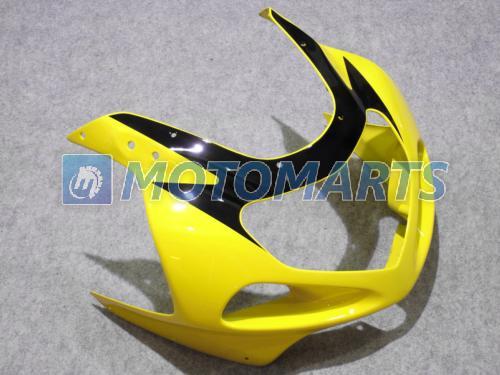 Gult Svart Fairing Kit för Suzuki GSXR1000 2000 2001 2002 K2 GSXR 1000 00 01 02 Gratis vindruta