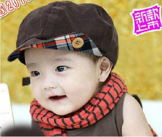 NEW baby kids boys's boy caps hats toddler girls cap hat Sun hat cap beret coffee, 10pcs/lot, dandys