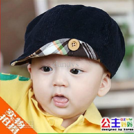 NEW baby kids boys's boy caps hats toddler girls cap hat Sun hat cap beret coffee, dandys