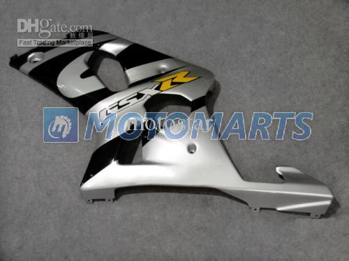 Kit de carénage OEM noir argent POUR suzuki GSXR1000 2000 2001 2002 K2 GSXR 1000 00 01 02 cadeau gratuit de haute qualité