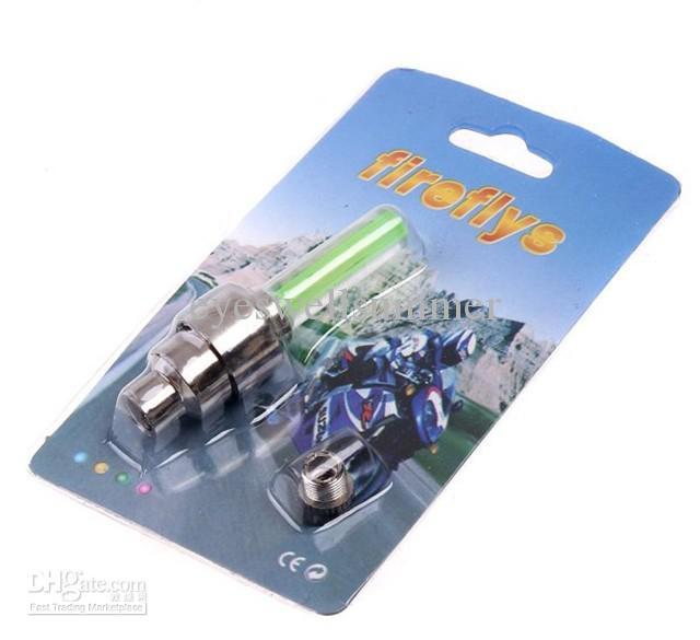 100 adet / grup Yenilik LED Flaş Lastik Tekerlek Vana Kapağı Işık Araba Bisikleti Motorbicycle Tekerlek için