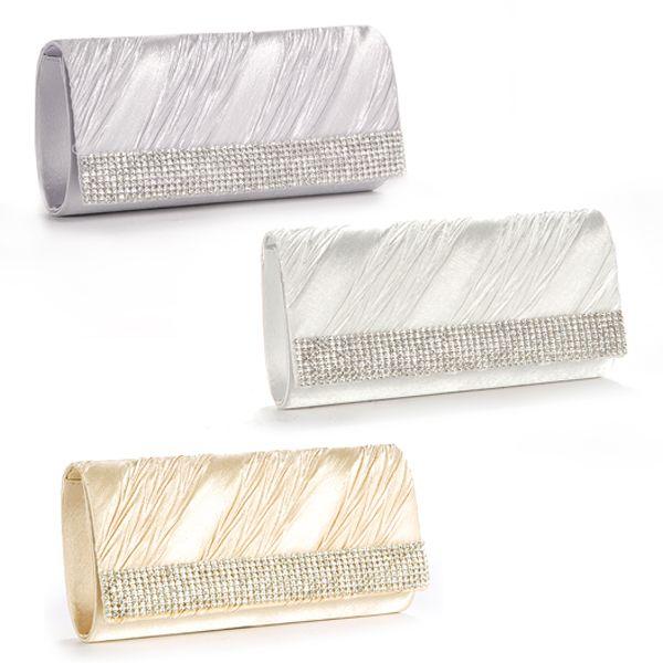 Long Crystal Diamante Strip Clutch Cycle Bottom Bag Women Handbag ...