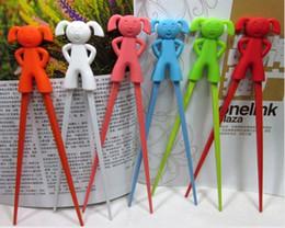 Wholesale Connected Chopsticks - Cartoon Connected Chopsticks,children and foreigners learning chopsticks,mix designs a