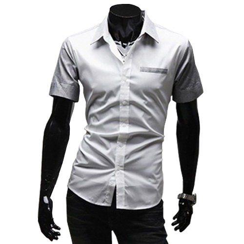 Online Cheap Slim Fit Men's Shirts Short Sleeve Casual Shirts ...