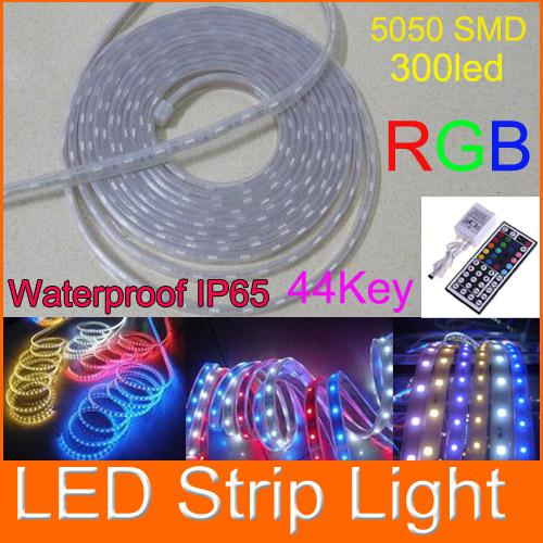 Led flat rope light waterproof smd 5050 rgb flexible led strip light led flat rope light waterproof smd 5050 rgb flexible led strip light 44 key 300 led aloadofball Images